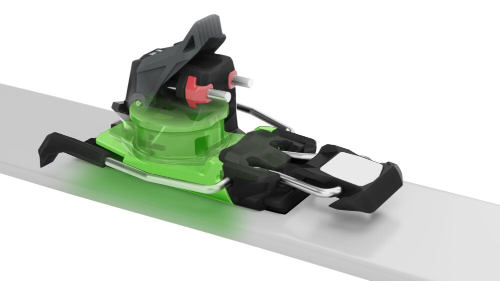 Direct power transmission for easy control over the skis